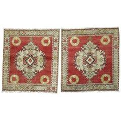 Pair of Turkish Square Rugs