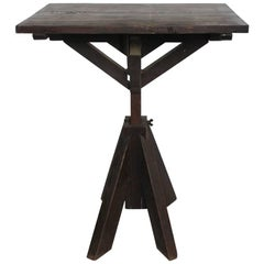 Antique Artist Wood Table