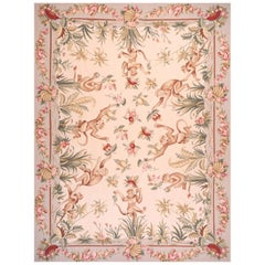 Musiciens Monkeys Needlepoint Rug At 1stdibs