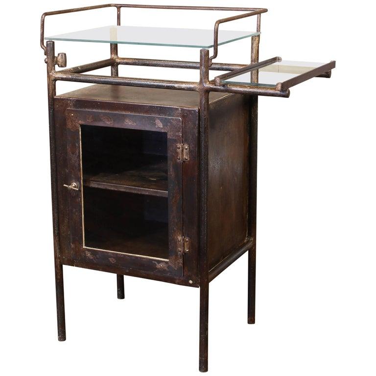 Antique Distressed Medical Storage Cabinet