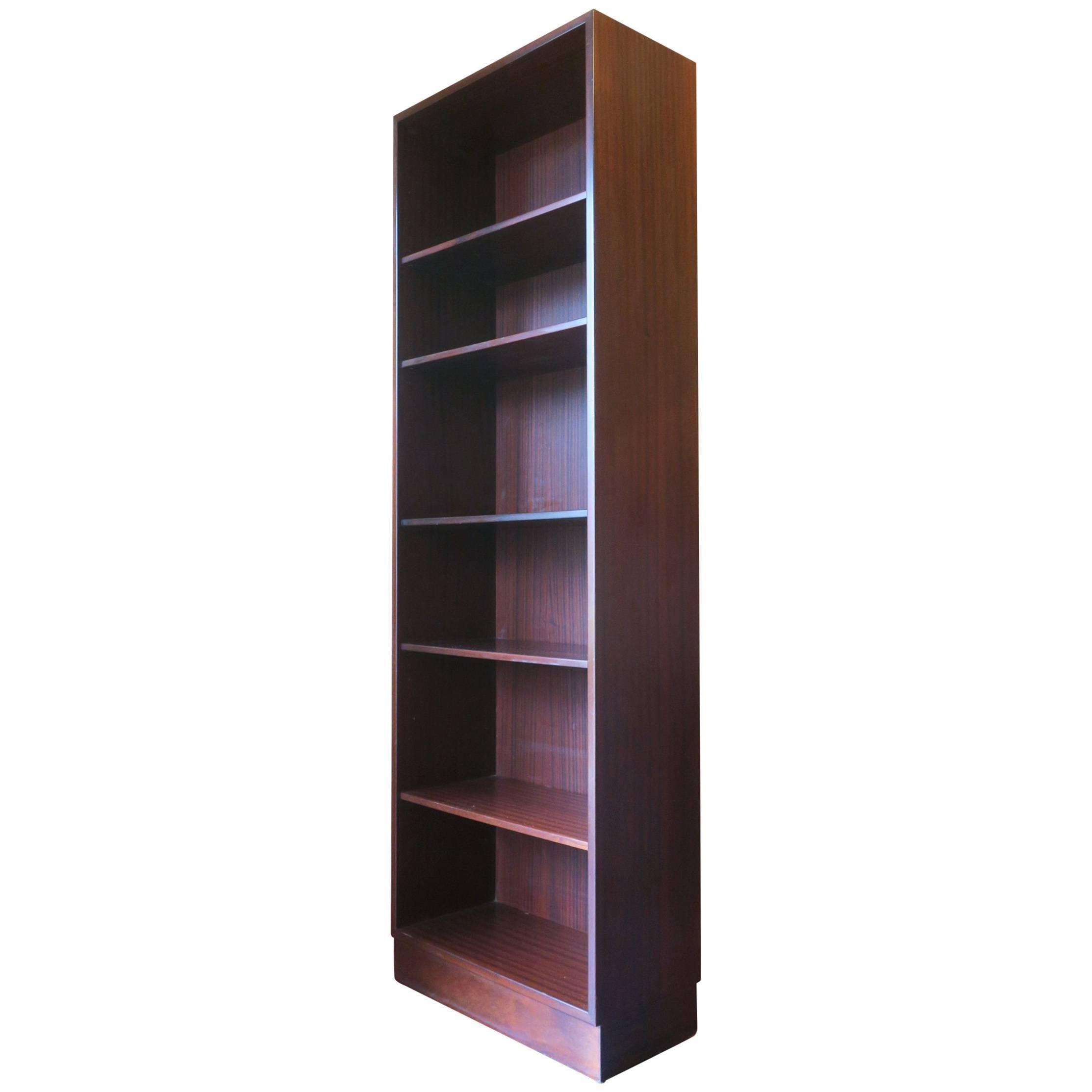 Poul Hundevad Mahogany Narrow Bookshelf