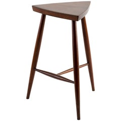 George Nakashima Rare Stool in Walnut, 1960s