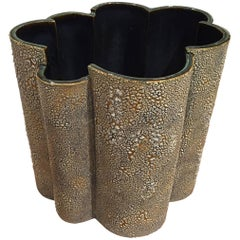 """American Post-War Design Large Textured """"Bark"""" Vase, by Gary DiPasquale"""