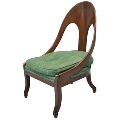 Michael Taylor for Baker Spoon Back Slipper Lounge Chair Mahogany Neoclassic