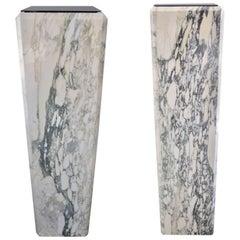 Pair of Calcutta Marble Louis XVI Style Pedestal's / Jardiniere's
