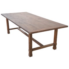 Custom Farm Table in Reclaimed Heartwood, Built to Order by Petersen Antiques