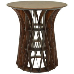 Colmeia Brazilian Contemporary Wood Side Table by Lattoog