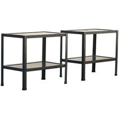 Pair of Custom Steel Side Tables