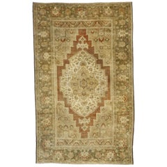 Vintage Turkish Oushak Rug with Rustic Spanish Style and Warm, Spice Colors