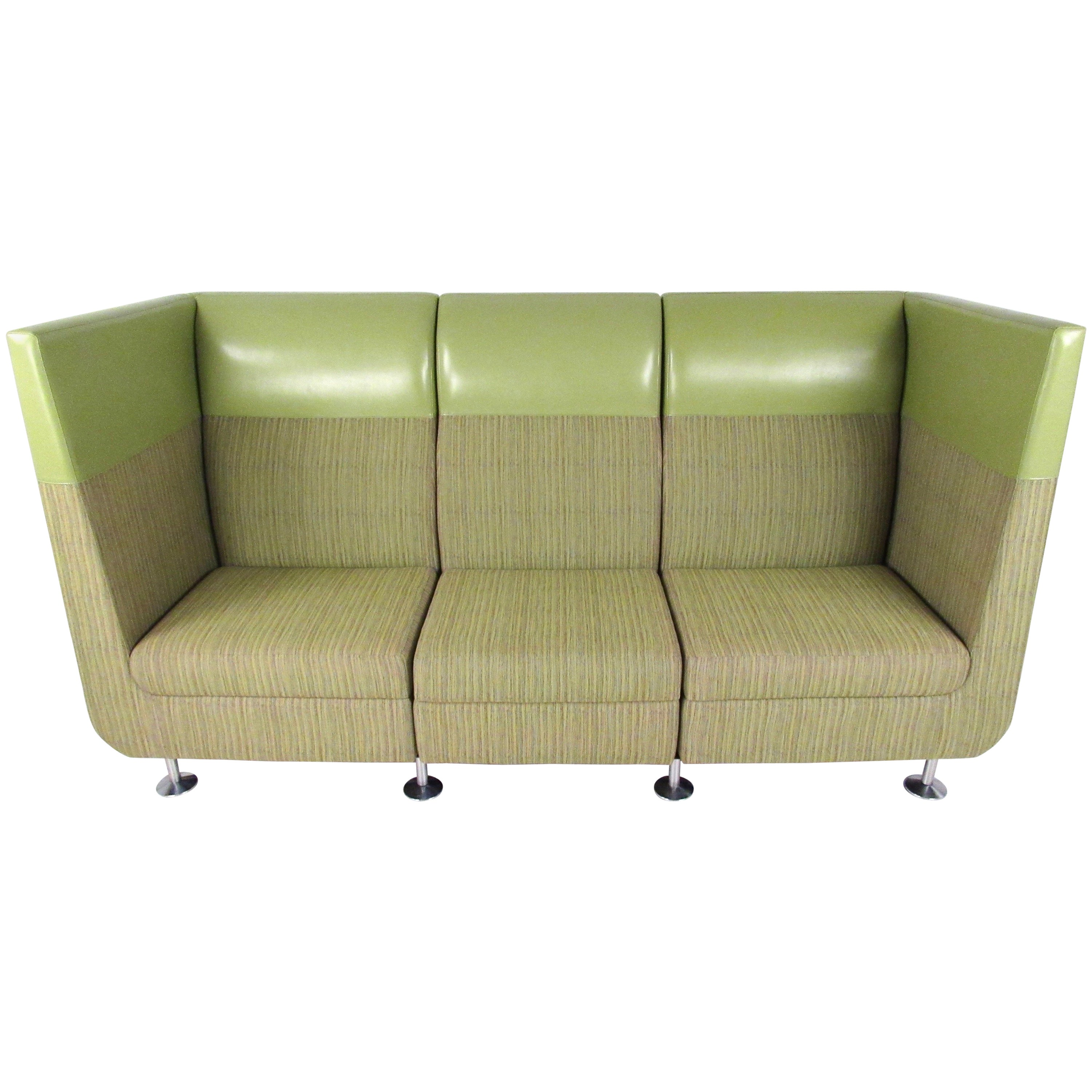 Contemporary modern booth style sofa for sale at 1stdibs