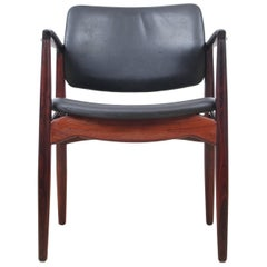 Mid-Century Modern Danish Desk Chair in Rosewood Model 66 by Erik Buck