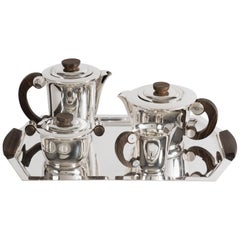 Ravinet D'Enfer, Art Deco Tea and Coffee Service, France, circa 1940
