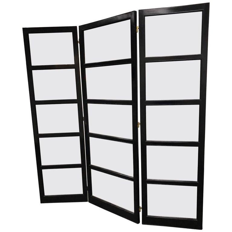 Custom Landry Three Panel Folding Screen