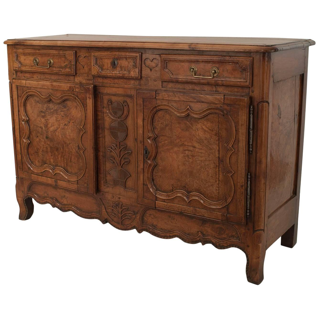 French Provincial Louis XV Walnut Commode
