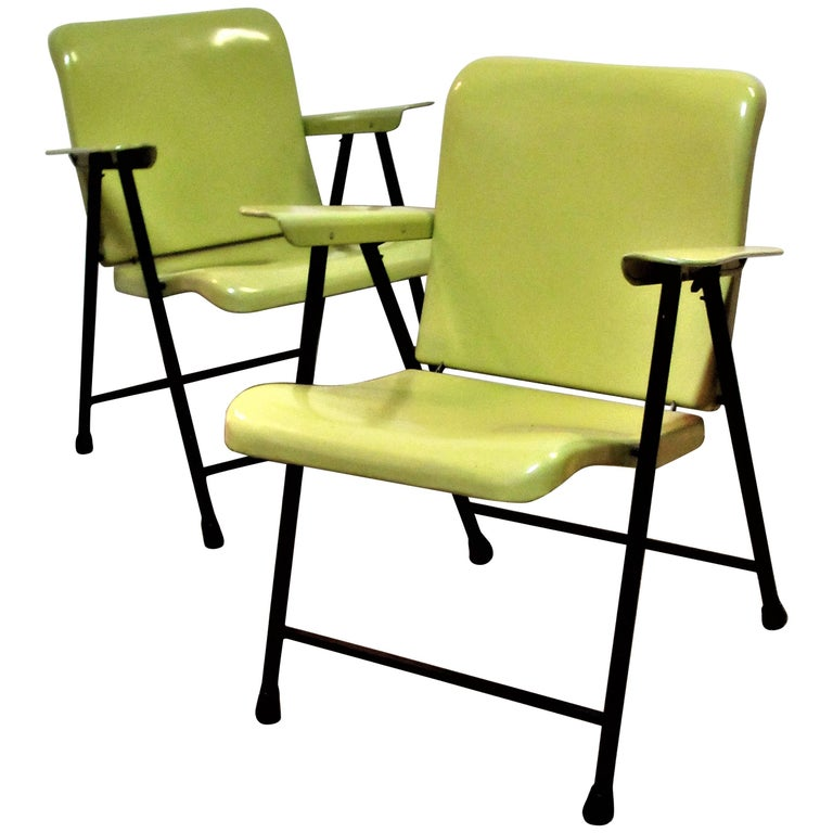 Russel Wright Folding Armchairs for Samsonite