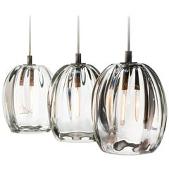 Set of Three, Thick Clear Barnacle Barrel Pendant by Siemon & Salazar