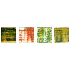 Suite of Four Abstract Color Field Oil Paintings by Douglas Leon Cartmel
