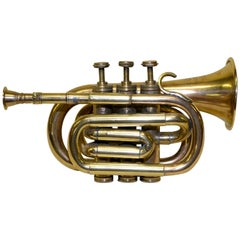 E-Flat Bessons & Co. Brass Cornet, H. 75983 Made in England