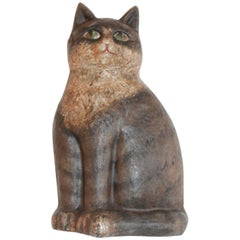 Hubley Cat Painted Cast Iron Door Stop