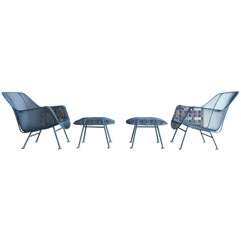 """Pair of """"Sculptra"""" Lounge Chairs by Russell Woodard"""