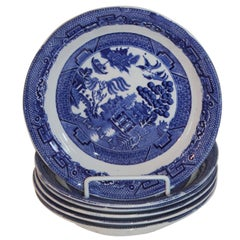 Allertons English Blue Willow, Set of Six