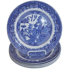 Grimwades Set of Six Blue Willow Plates