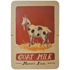 Masons Farm Sign, Goats Milk