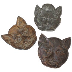 19th Century Cast Iron Cats / Collection of Three