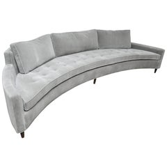 Harvey Probber Attributed Curved Front Sofa