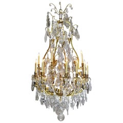 French 19th Century Louis XV Style Gilt-Bronze and Crystal Chandelier
