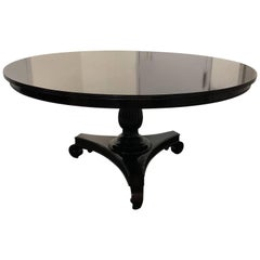 Colonial Style Round Mahogany Pedestal Dining Table