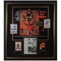 Vintage Bruce Lee Autographed 'Enter The Dragon' Framed Display