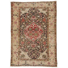 Rustic Style Vintage Turkish Sivas Accent Rug for Kitchen, Foyer or Entry Rug