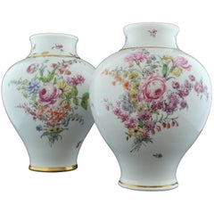 Near Pair of Baluster Shape Vases, Chelsea, circa 1755