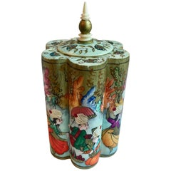 Hand-Painted Ribbed Bone Turkish Box