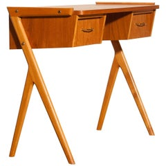 1950s, Teak Swedish Side Table or Ladies Desk