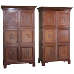 Pair of Mahogany Cabinets from the British Museum
