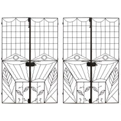 Pair of Art Deco Garden Gates