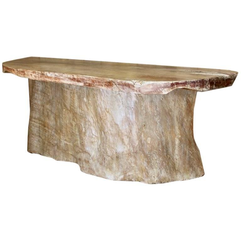 Very Large Tree Trunk Console Table Or Bar