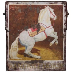 "Mid-20th Century ""Rampant Horse"" Painted Pub Sign"