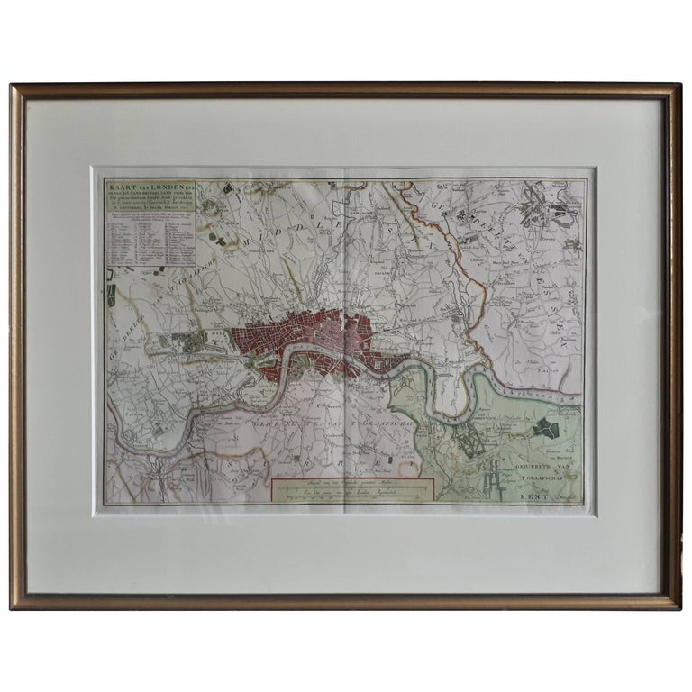 Map Of City Of London Uk.Antique Map Of The City Of London England Uk By I Tirion 1754