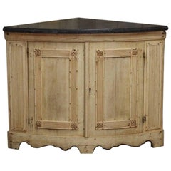 Good 19th Century Bleached Oak Corner Cupboard