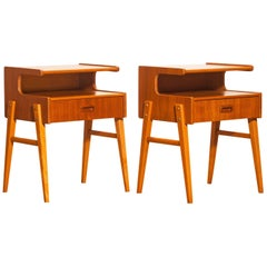 1960s Pair of Teak 'Model C2' Bedside Tables