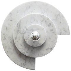 Stunning Circle Wall Light in Carrara Marble