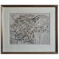 Antique Map of the City of Rome 'Italy' by H. Chatelain, circa 1720