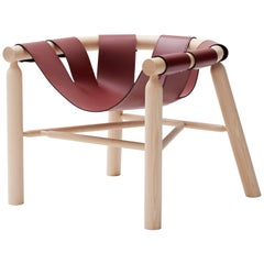 Ninna Armchair by Carlo Contin with Ashwood and Leather Suspended Seat