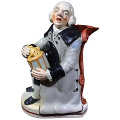 Staffordshire Pottery 'Night Watchman' Jug, circa 1815