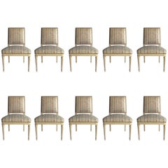 Set of Ten Maison Jansen Dining Room Chairs