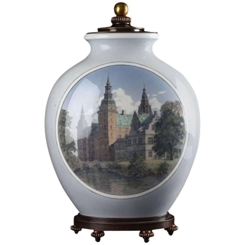Royal Copenhagen Unique Vase by Theodor Kjølner Bronze by Knud Andersen