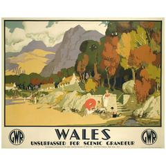 """""""Wales,"""" a British Railway Poster by Michael Reilly, circa 1930"""
